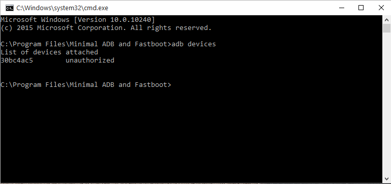 Minimal ADB and Fastboot on your Windows PC.