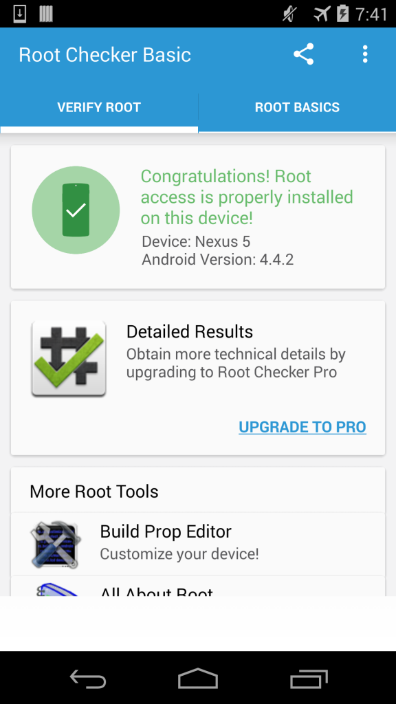 To verify download root app checker