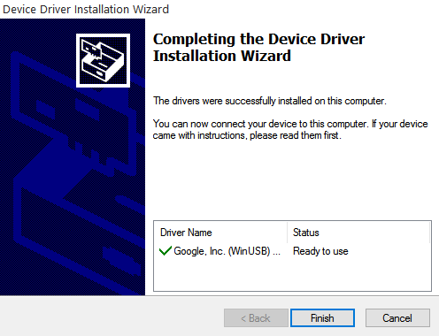 Type 'Y' to install the driver